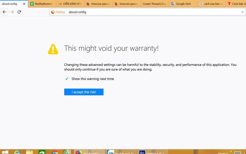 Cách tắt, bật thông báo mật khẩu đăng nhập không an toàn trên Firefox