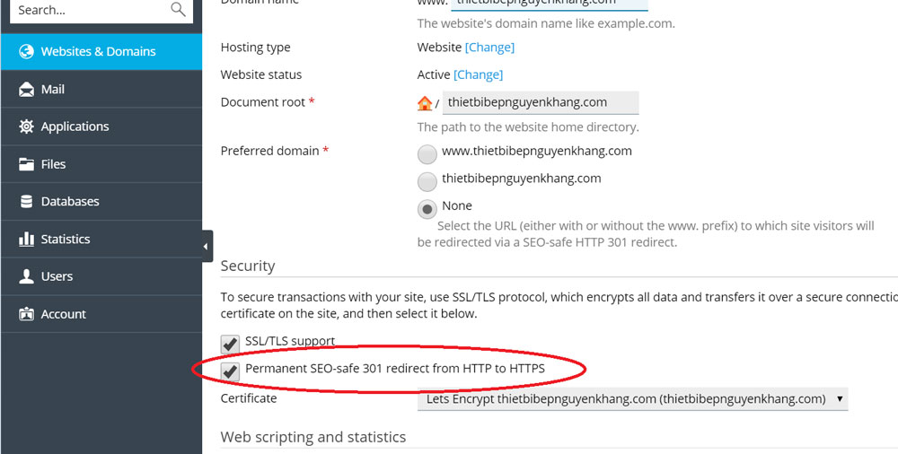Permanent SEO-safe 301 redirect from HTTP to HTTPS
