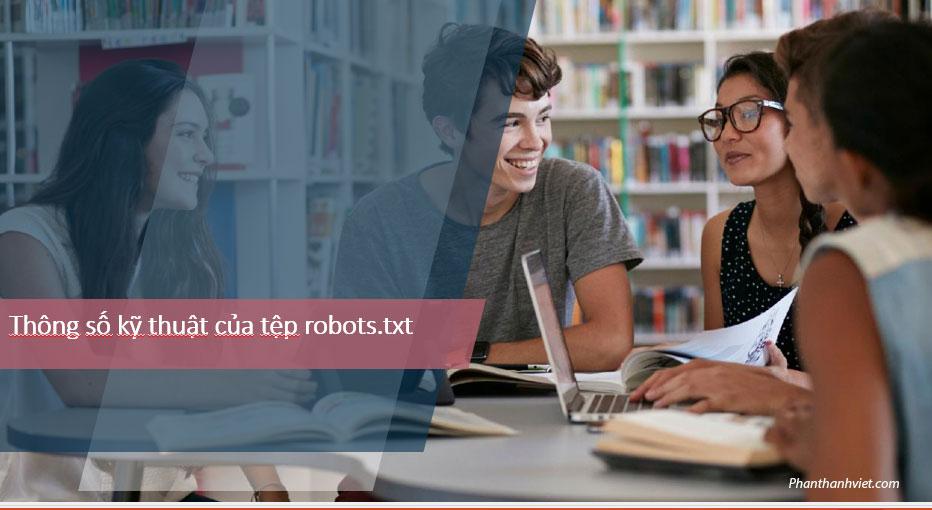 Thông số kỹ thuật của tệp robots