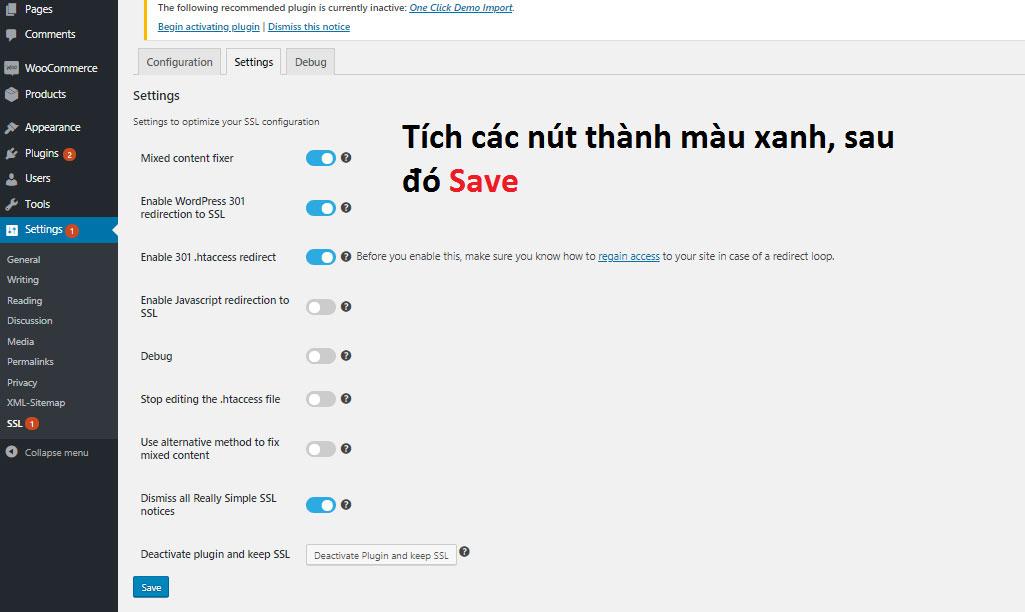 Cài chứng chỉ SSL cho web WordPress với plugin Really Simple SSL