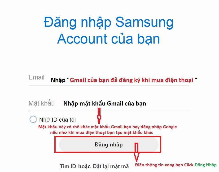 Hướng dẫn mở khóa điện thoại samsung khi quên mật khẩu và vân tay
