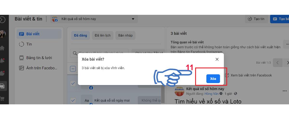 Hướng dẫn cách xóa toàn bộ bài đăng trên Fanpage Facebook