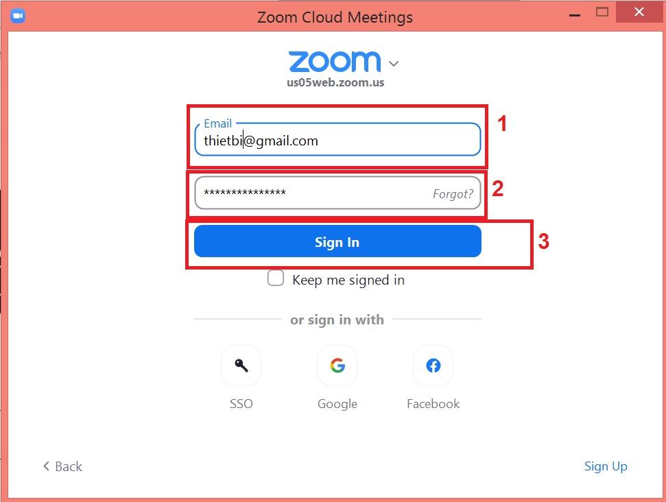 Cách đăng nhập và sử dụng Zoom trực tiếp từ phần mềm Zoom