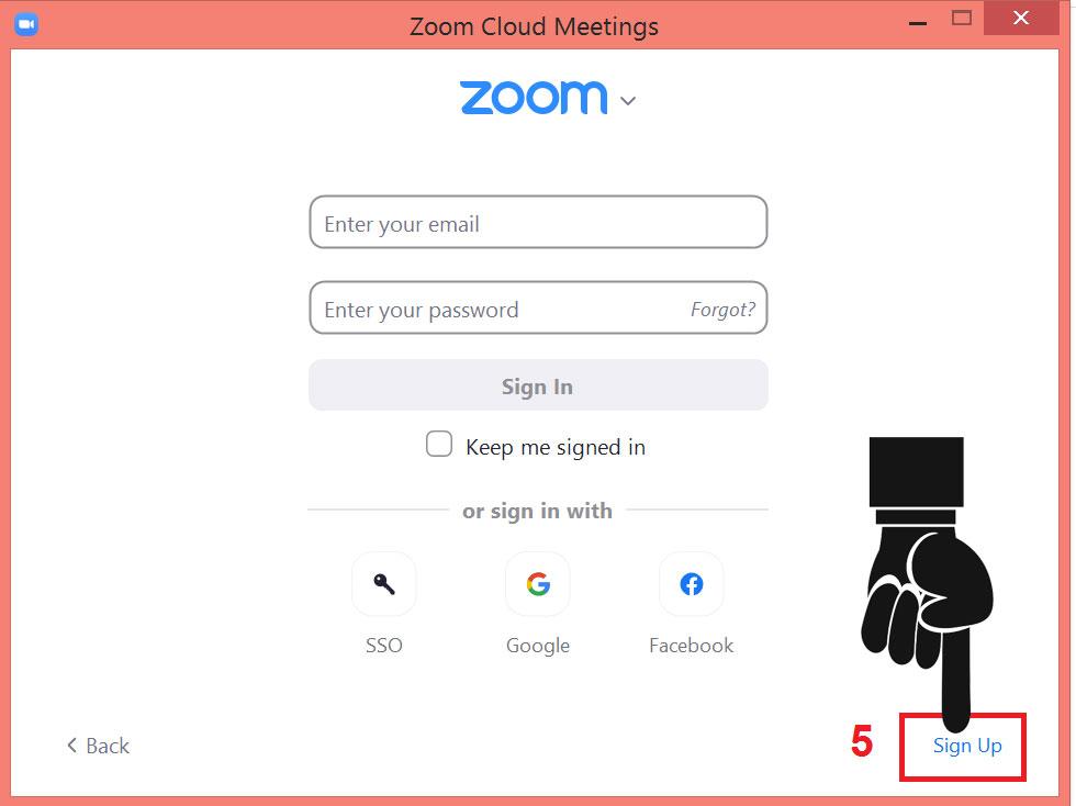 Đăng ký Zoom ứng dụng họp trực tuyến